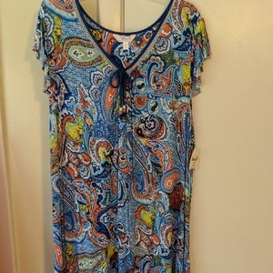 Paisley night gown